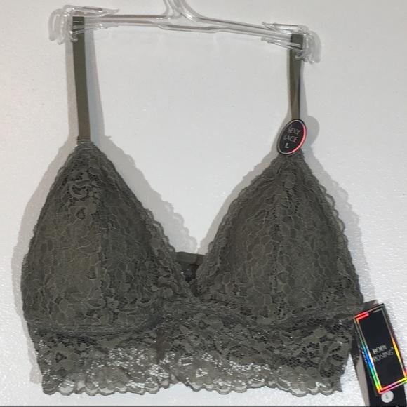 1db895db55 Body Frosting Olive Lace Bralette - L